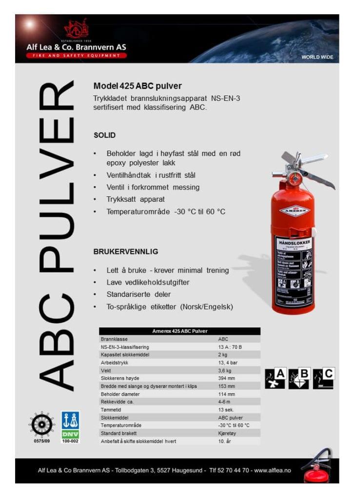 [:no]Amerex mod. 425, 2 kg ABC pulver [:en]førstehjelpprodukt[:]